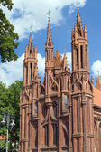 Exterior view of the St. Anne's Church, Vilnius — Stock Photo