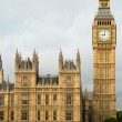 Big Ben Elizabeth tower Houses of Parliament London. - Stock Photo