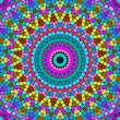 Bright colorful kaleidoscope pattern. - Stock Photo