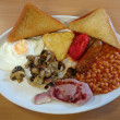 Traditional English fried breakfast. - Stock Photo