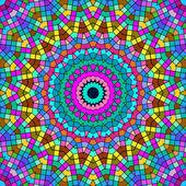 Bright colorful kaleidoscope pattern. — Stock Photo