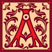 Vintage letter A — Stock Vector