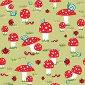 鹅膏菌 — 图库矢量图片
