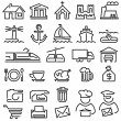 Set line icons — Stock Vector
