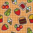 Stock Vector: Food icons background