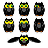 Owl set — Stock Vector
