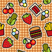 Food icons background — Stock Vector