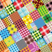 Textile patchwork square — Stock Vector