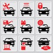 Auto repair icons - Stock Vector