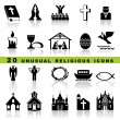 Set christian icons - Stock Vector