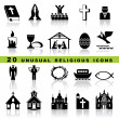 Royalty-Free Stock Imagen vectorial: Set christian icons