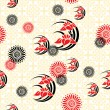 Japan floral background — Stock Vector