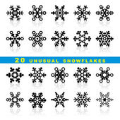 Set snowflakes — Stockvektor