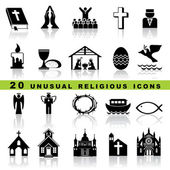 Nastavit křesťanské ikony — Stock vektor