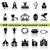 Set kristna ikoner — Stockvektor