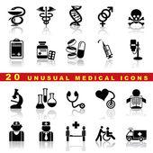 Set icone mediche — Vettoriale Stock