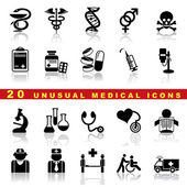 Set medical icons — Vector de stock