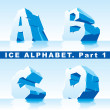 Stock Vector: Ice alphabet. Part 1
