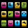 Royalty-Free Stock Vector Image: Devices icons color