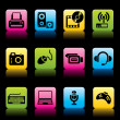 Devices icons color — Stock Vector