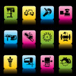 Tools icons color - Stock Vector