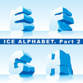 Ice alphabet. Part 2 — Stock Vector