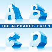 Alfabeto di ghiaccio. parte 1 — Vettoriale Stock