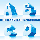 Ice alphabet. Part 1 — Stock Vector