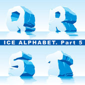 Ice alphabet. Part 5 — Stock Vector