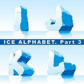 Alfabeto di ghiaccio. parte 3 — Vettoriale Stock