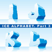 Ice alphabet. Part 3 — Stock Vector