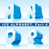 Ice alphabet. Part 4 — Stock Vector