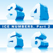 Stock Vector: Ice numbers Part 2
