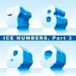 Stock Vector: Ice numbers Part 3