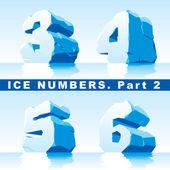 Eis-Zahlen-Teil 2 — Stockvektor