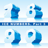 Ice numbers Part 3 — Stock Vector