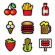 Food contur — Vector de stock