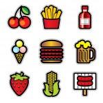 Food contur — Stock Vector