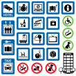 Stock Vector: Icons hotel
