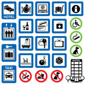 Icons hotel — Stock Vector