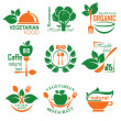 Healthy food label - Grafika wektorowa