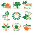 Healthy food label - Stock Vector