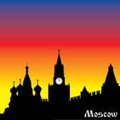 Moscow silhouette — Stock Vector