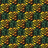 Ananas background — Stock Vector