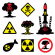 Radiation hazard — Stock Vector