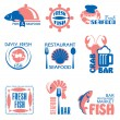 Seafood label — Stock Vector