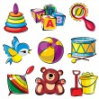 Royalty-Free Stock Vector Image: Set toys
