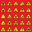Stock Vector: Warning sign