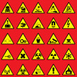 Warning sign — Imagen vectorial