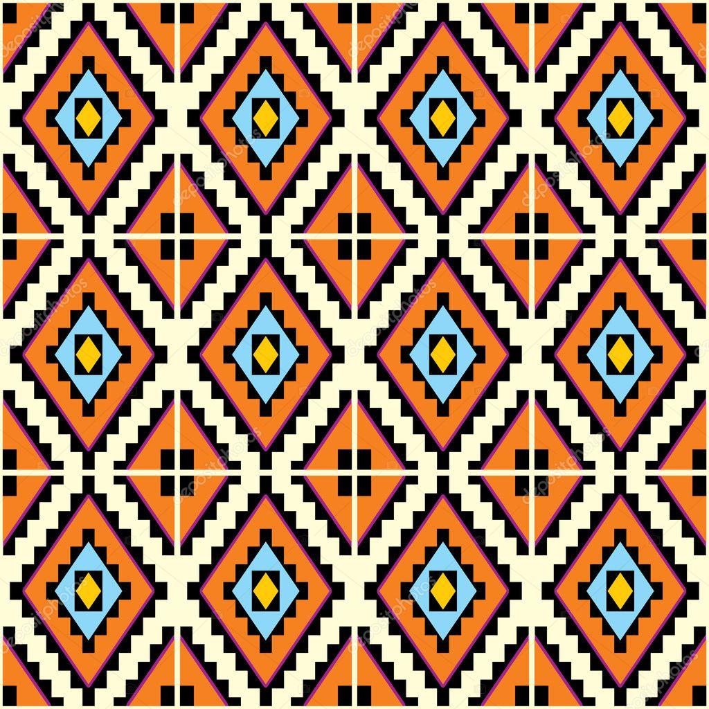 炫彩无缝花纹几何型手机壁纸分层五颜六色